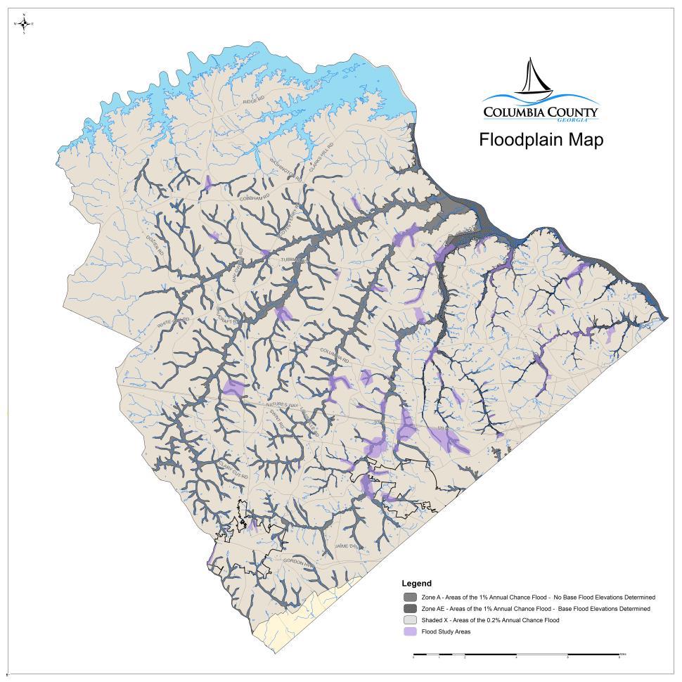 know your flood hazard columbia county ga