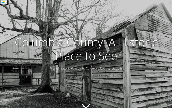 historic columbia county story map screenshot