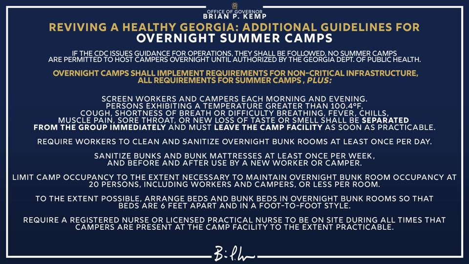 Summer Camp Guidelines